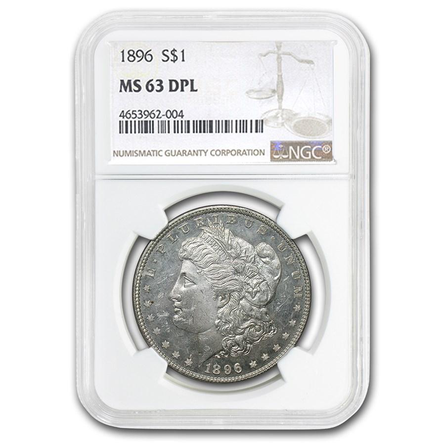 1896 Morgan Dollar MS-63 NGC DPL