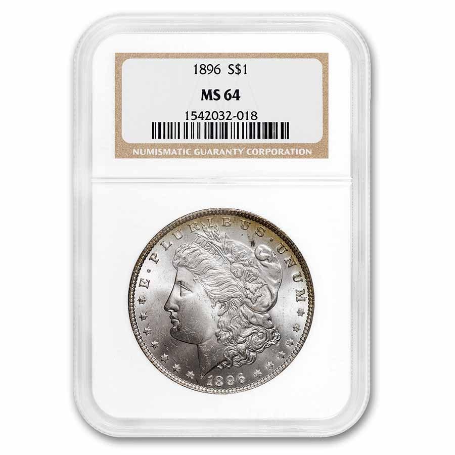 1896 Morgan Dollar MS-64 NGC