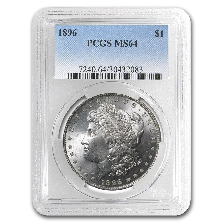 1896 Morgan Dollar MS-64 PCGS