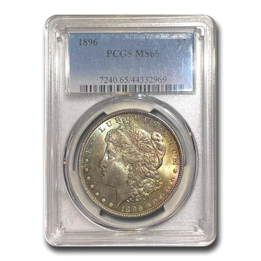 1896 Morgan Dollar MS-65 PCGS (Toned)