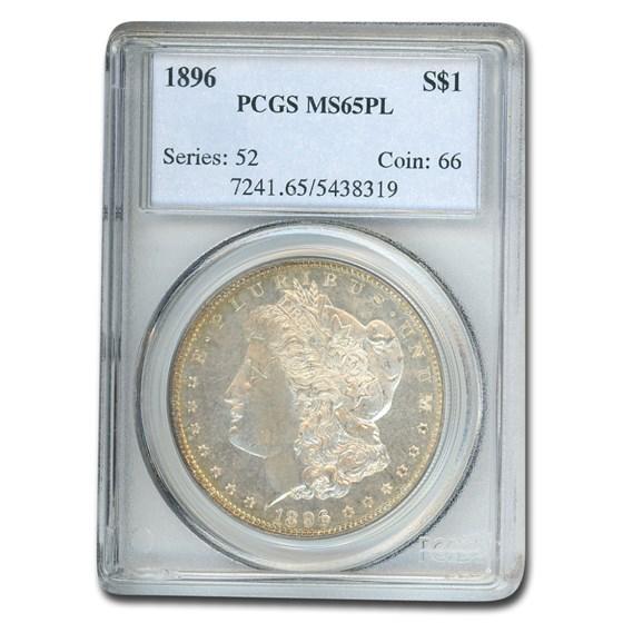 1896 Morgan Dollar MS-65 PL PCGS
