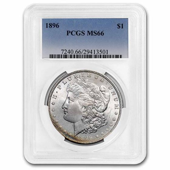 1896 Morgan Dollar MS-66 PCGS (Beautiful Toning)