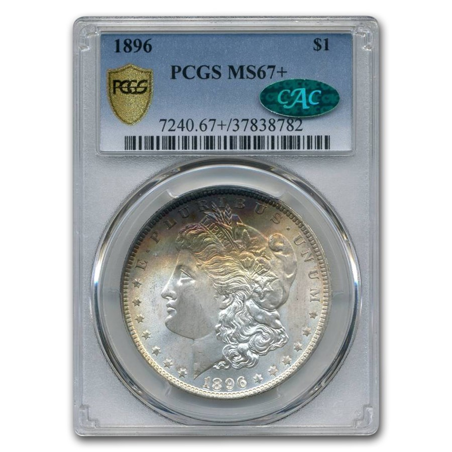 1896 Morgan Dollar MS-67+ PCGS CAC