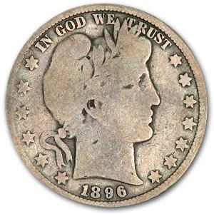 1896-O Barber Half Dollar Good (Full Rims)