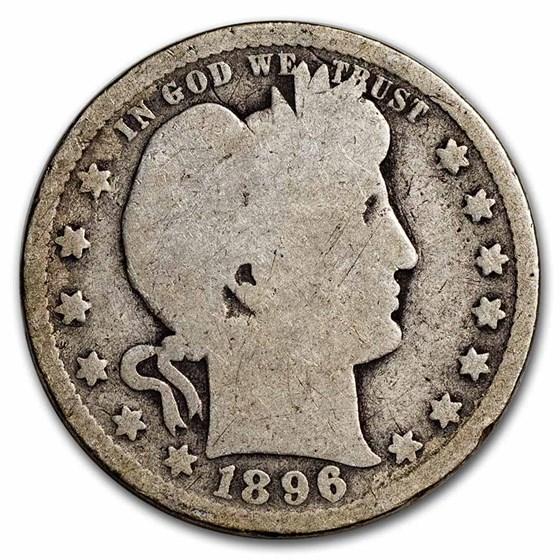 1896-O Barber Quarter AG