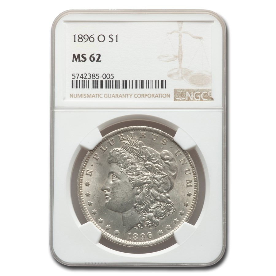 1896-O Morgan Dollar MS-62 NGC
