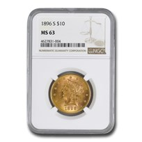 1896-S $10 Liberty Gold Eagle MS-63 NGC