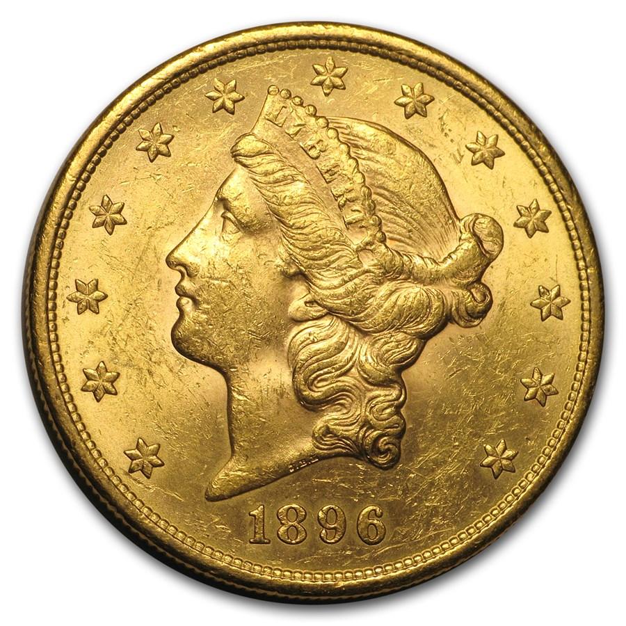 1896-S $20 Liberty Gold Double Eagle AU