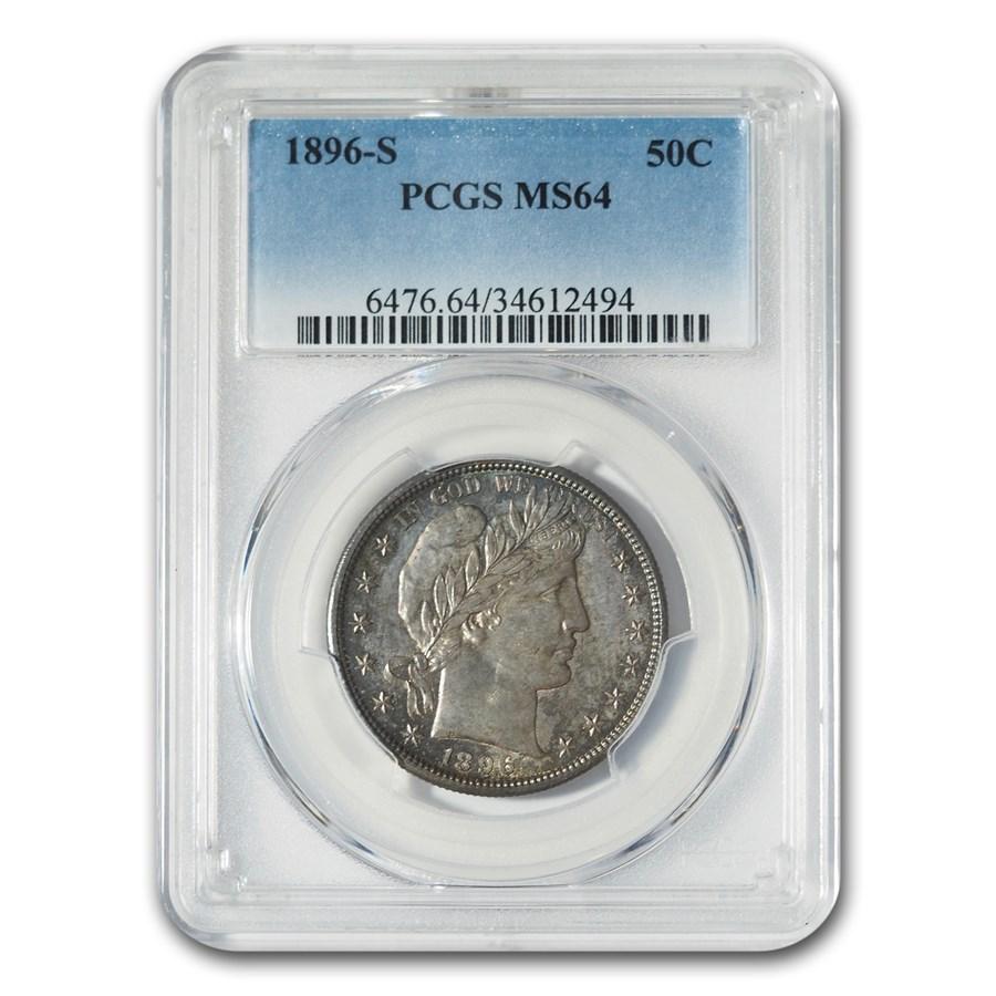 1896-S Barber Half Dollar MS-64 PCGS