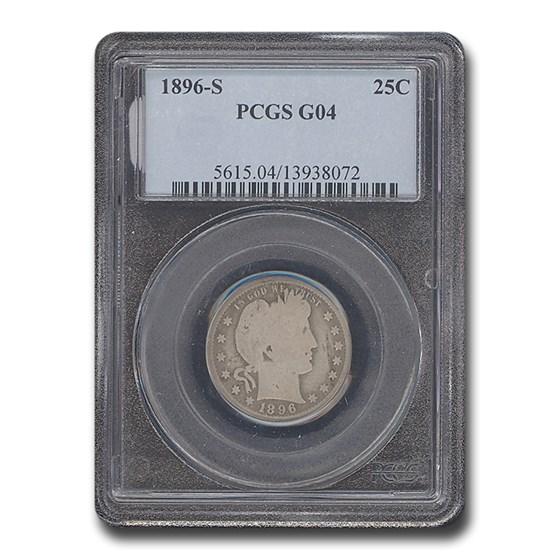 1896-S Barber Quarter Good-4 PCGS