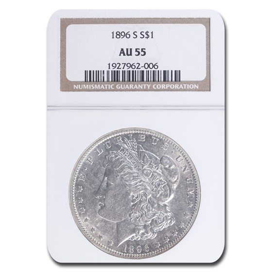 1896-S Morgan Dollar AU-55 NGC