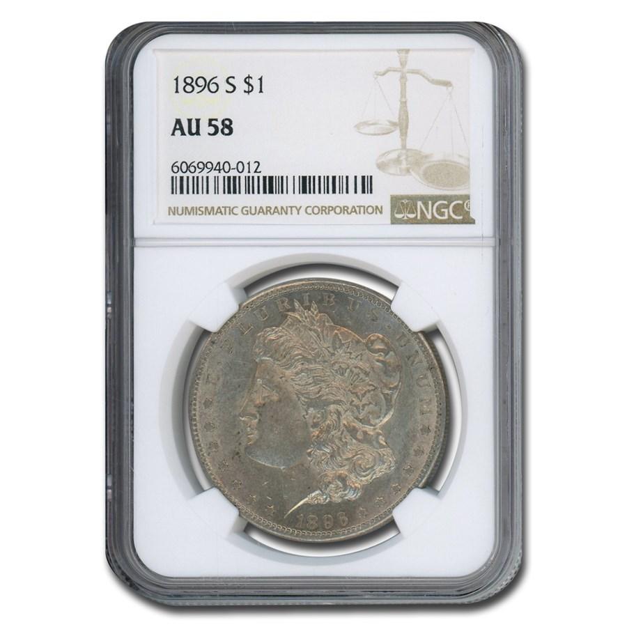 1896-S Morgan Dollar AU-58 NGC