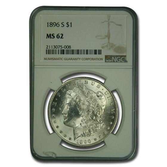 1896-S Morgan Dollar MS-62 NGC