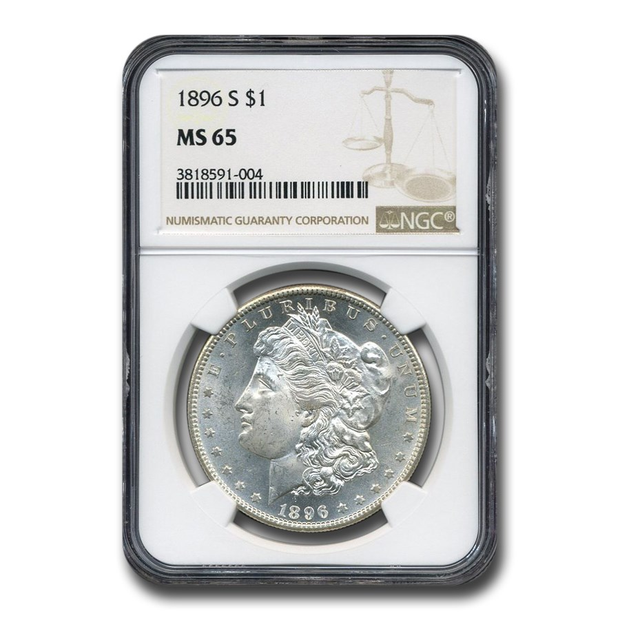 1896-S Morgan Dollar MS-65 NGC