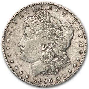 1896-S Morgan Dollar VF Details (Damaged)