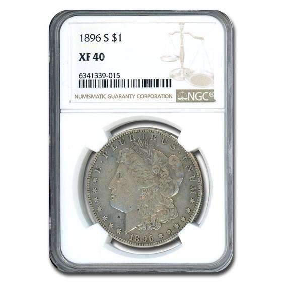 1896-S Morgan Dollar XF-40 NGC