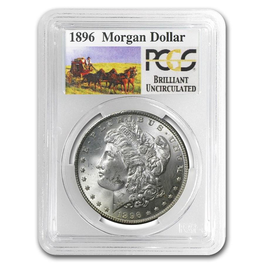 1896 Stage Coach Morgan Dollar BU PCGS