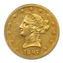 1897 $10 Liberty Gold Eagle AU