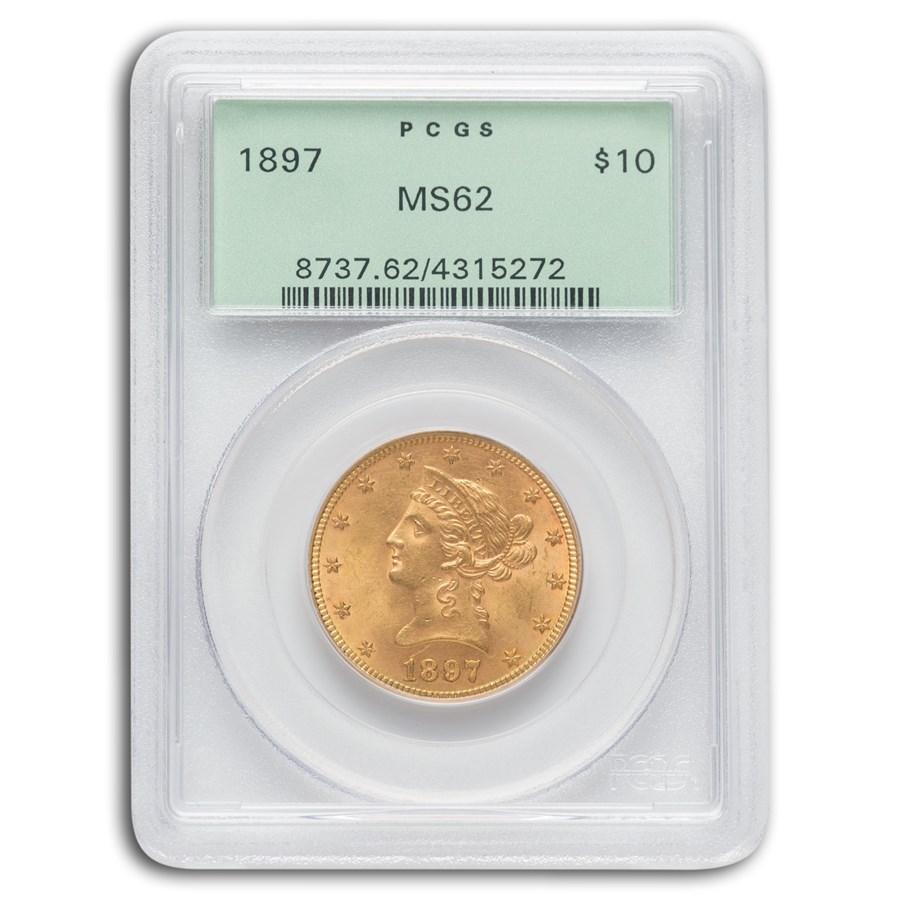 1897 $10 Liberty Gold Eagle MS-62 PCGS