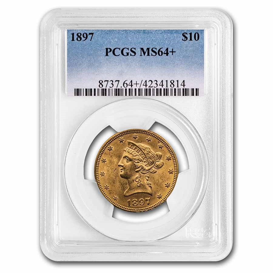 1897 $10 Liberty Gold Eagle MS-64+ PCGS