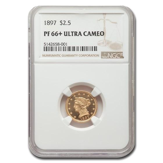 1897 $2.50 Liberty Gold Quarter Eagle PF-66 UCAM+ NGC