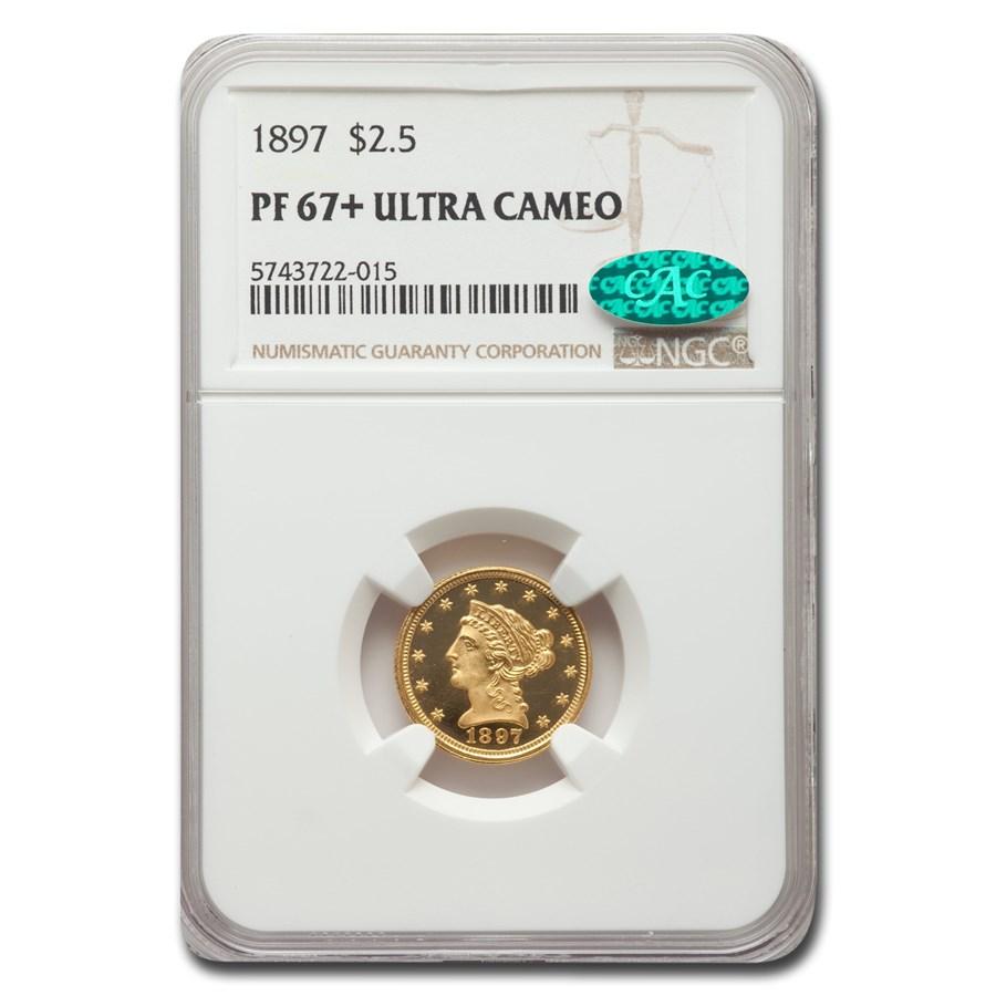 1897 $2.50 Liberty Gold Quarter Eagle PF-67 UCAM+ NGC CAC