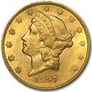 1897 $20 Liberty Gold Double Eagle AU
