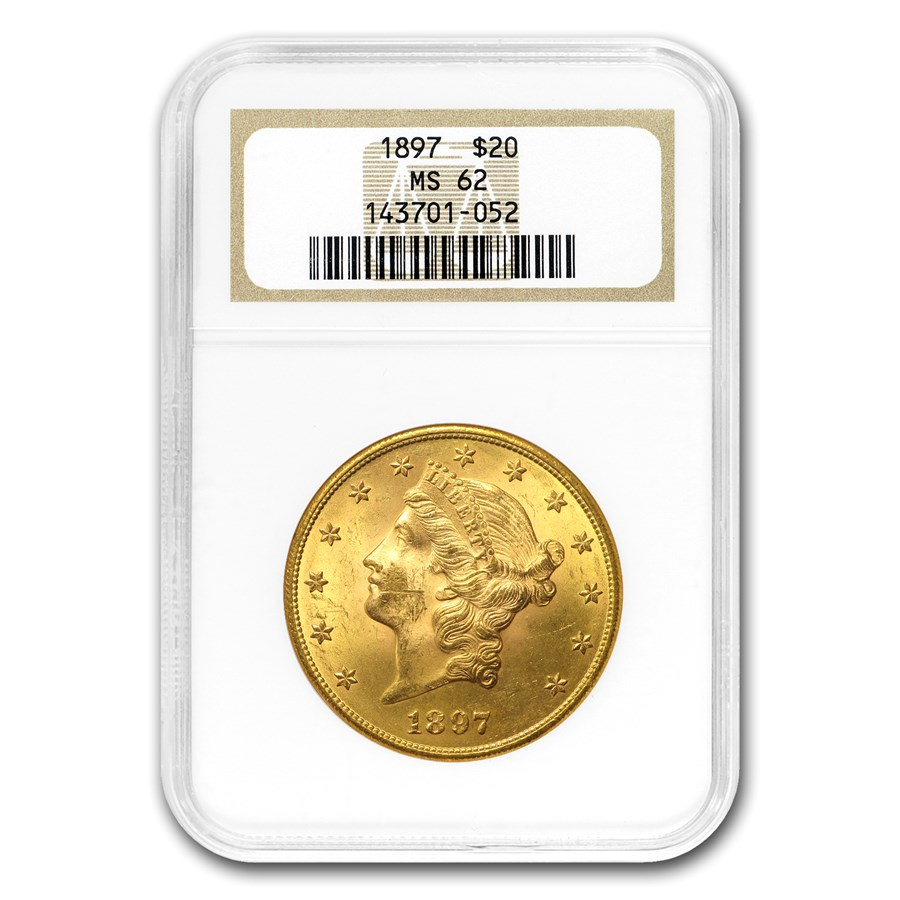 1897 $20 Liberty Gold Double Eagle MS-62 NGC