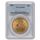 1897 $20 Liberty Gold Double Eagle MS-63 PCGS