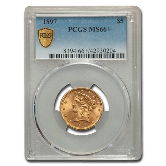 1897 $5 Liberty Gold Half Eagle MS-66+ PCGS