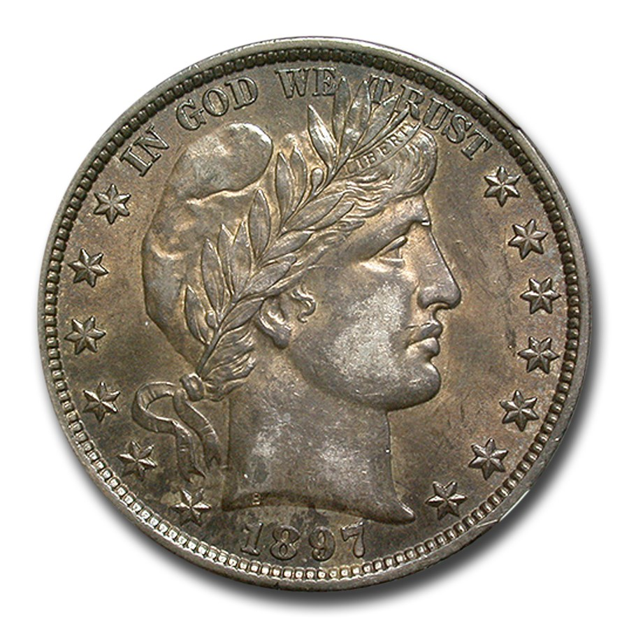 1897 Barber Half Dollar AU-55 NGC