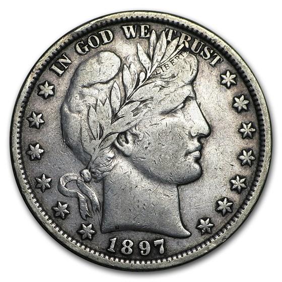 1897 Barber Half Dollar VF
