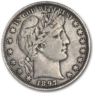 1897 Barber Half Dollar XF Details