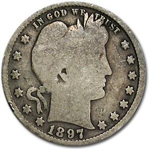 1897 Barber Quarter Good/VG