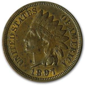 1897 Indian Head Cent AU
