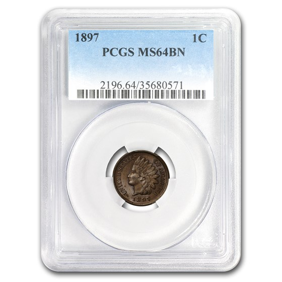 1897 Indian Head Cent MS-64 PCGS (Red/Brown)