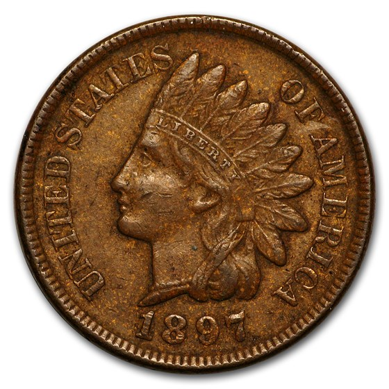 1897 Indian Head Cent XF