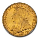 1897-M Australia Gold Sovereign Victoria Veiled Head MS-63 NGC
