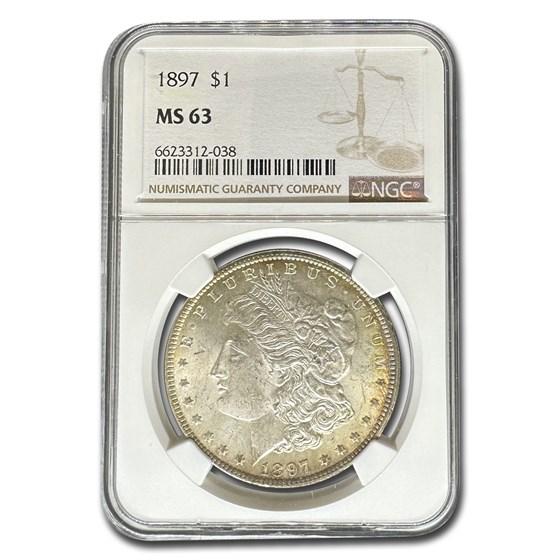 1897 Morgan Dollar MS-63 NGC