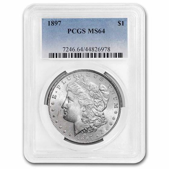 1897 Morgan Dollar MS-64 PCGS