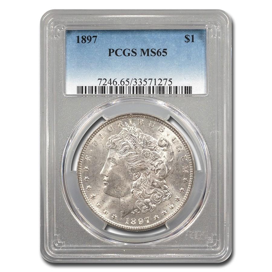 1897 Morgan Dollar MS-65 PCGS