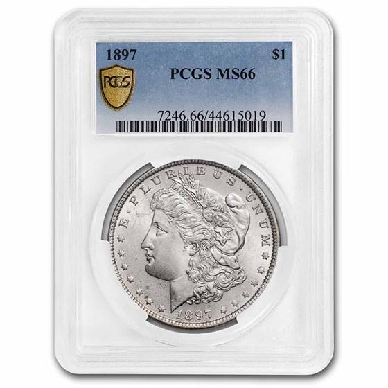 1897 Morgan Dollar MS-66 PCGS