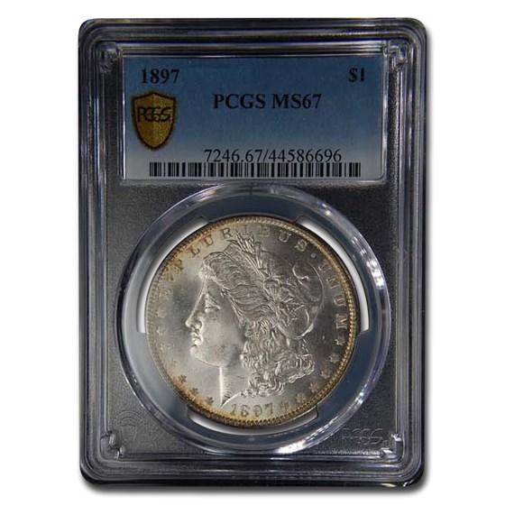 1897 Morgan Dollar MS-67 PCGS
