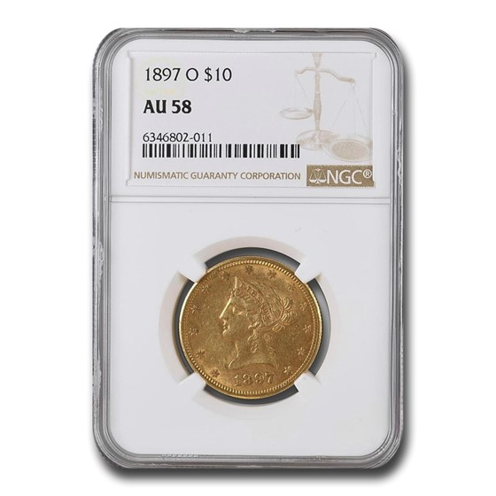 1897-O $10 Liberty Gold Eagle AU-58 NGC
