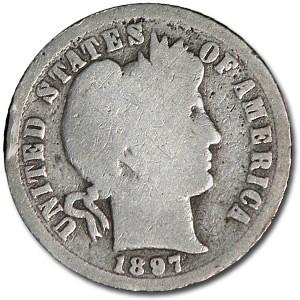 1897-O Barber Dime Good Details (Rim Dings)