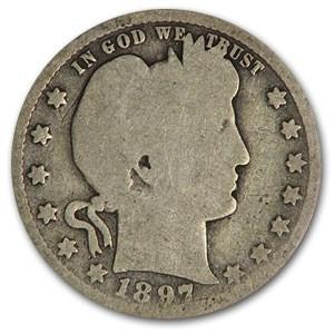 1897-O Barber Quarter AG