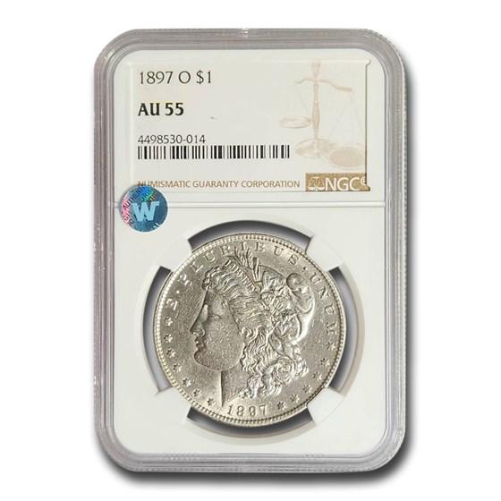 1897-O Morgan Dollar AU-55 NGC