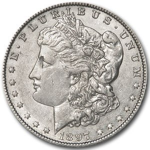 1897-O Morgan Dollar AU-58 Details (Cleaned)