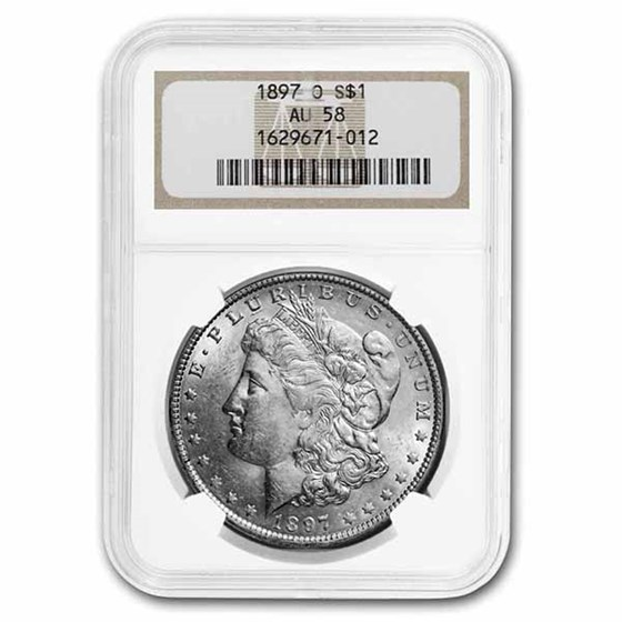 1897-O Morgan Dollar AU-58 NGC