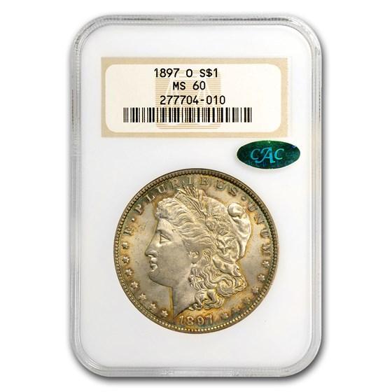 1897-O Morgan Dollar MS-60 NGC (CAC)